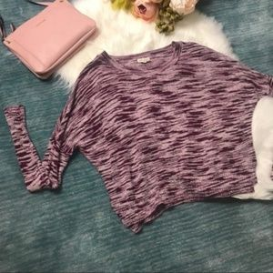 Urban Outfitters Sweaters - Urban Outfitters Purple & White Knit Sweater